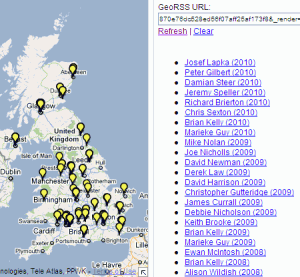 Speakers at IWMW events from 1997-2010